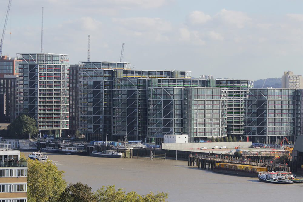The completed Riverlight development