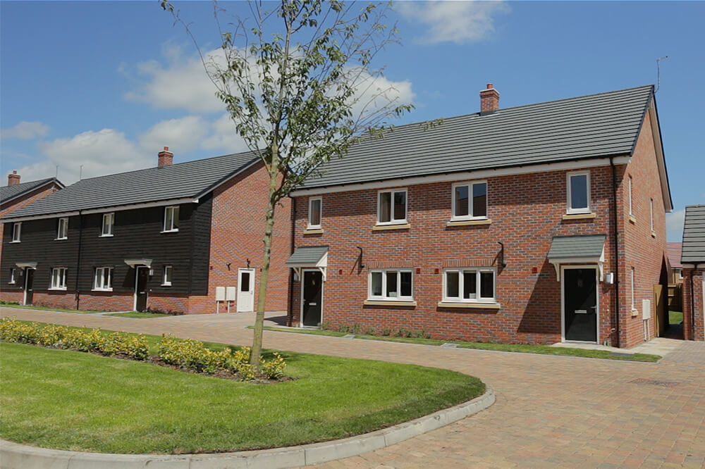 New build houses at Beacon Barracks, Stafford