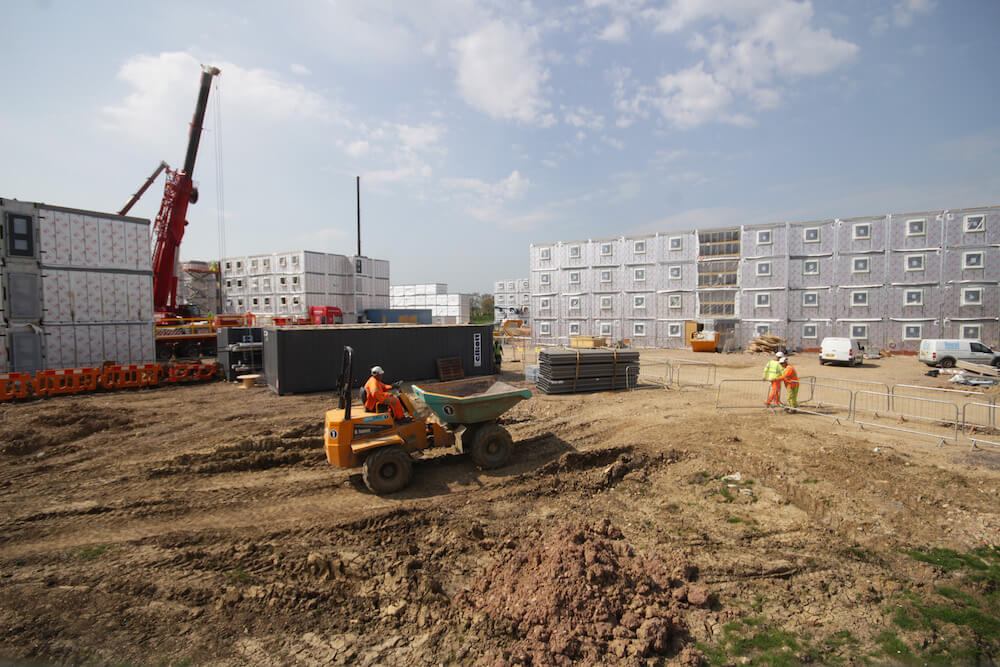 Installation of accommodation modular units at RAF Lyneham by the Hercules JV (Kier and Balfour Beatty)