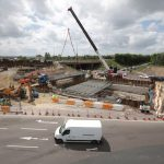 Capture of the Highways England Coast Road Junction triple-decker roundabout improvements.