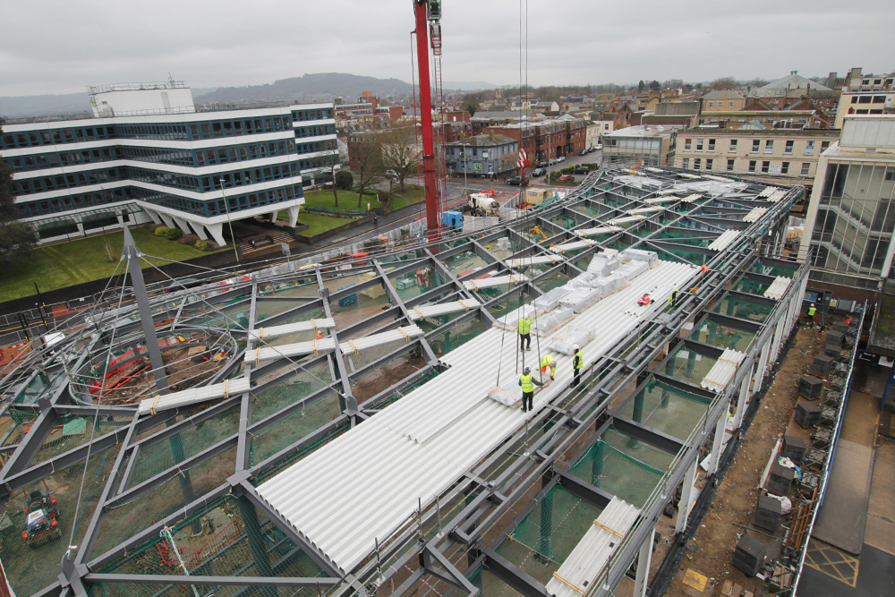 Video from Gloucester's new £7.5m transport hub features on BBC News