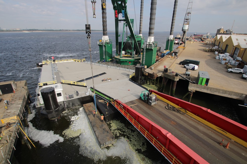 Video documenting £5.5m Royal Bridge Pontoon replacement at Sheerness